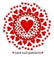 Heart card suit pattern vector image