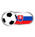 slovakia soccer icon vector image