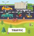 Traffic vector image