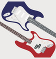two electric guitars vector image