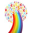 Abstract rainbow money tree vector image vector image