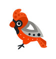 kingfisher bird colorful cartoon character vector image