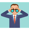 businessman looking for future trends through bino vector image vector image