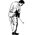 golf pose vector image vector image