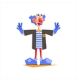 Circus Blue Clown Performing vector image