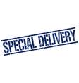 special delivery stamp vector image