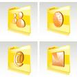 Set of folders vector image vector image