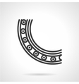 Ball bearing mechanism line icon vector image