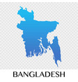 bangladesh map in asia continent design vector image
