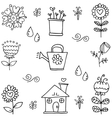 Doodle of spring object hand draw vector image