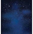 Night sky stars background vector image