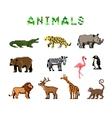 Pixel Animals vector image