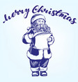 santa claus hand drawn vector image