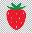 strawberry transparent strawberry fresh juice vector image