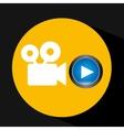 video player button film camera icon graphic vector image
