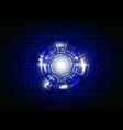 Blue abstract technology digital background vector image