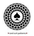 Spade card suit pattern vector image vector image