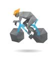 Racing cyclist abstract Vector Image