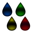 Drop of oil on a white background vector image