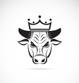 image of a bull head wearing a crown vector image vector image