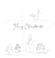 christmas doodle sketches vector image