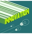 Innovation word Abstract background with 3D vector image vector image