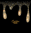 Black luxury background with gold vector image