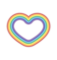 Rainbow icon heart realistic vector image