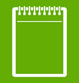 blank spiral notepad icon green vector image