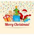 Color Christmas card or background vector image
