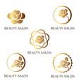 flower logo set for beauty salon beauty shop spa vector image
