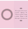 Greeting card or invitation design with floral vector image