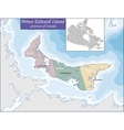 Map of Prince Edward Island vector image