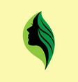 nature girl logo vector image