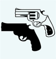 Old pistol vector image