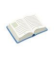 Open blue book vector image