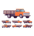 orange empty truck vector image