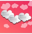paper cloud design vector image