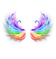 Rainbow Wings on a White Background vector image
