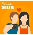 Romantic Selfie Poster vector image