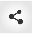 Share icon flat design vector image
