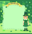 st patrick day girl notes vector image
