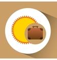 suitcase retro sun concept travel design graphic vector image