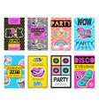 fashion patch badges banner set vector image vector image