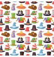 different funny hats for party and holidays vector image
