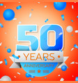fifty years anniversary celebration vector image