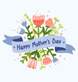Happy Mothers Day floral greeting Vector Image