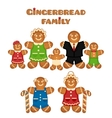 Gingerbread family vector image