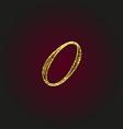 0 golden letter vector image