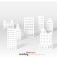a 3D paper city skyline vector image